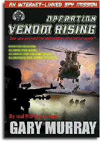Venom Rising Children's spy fiction by Gary Murray